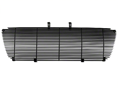 Modern Billet Upper Replacement Grille w/ Emblem Delete - Black (04-08 F-150 XL, XLT, Lariat)