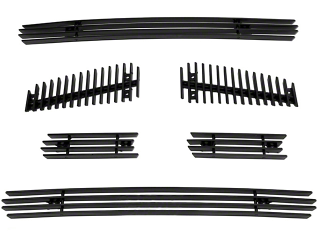 SpeedForm 6-Piece Upper Overlay Grille; Black (04-08 F-150 FX4, STX, King Ranch)