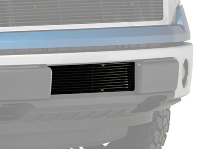 Modern Billet Lower Bumper Grille Insert - Black (09-14 F-150, Excluding Raptor, Harley Davidson & 2011 Limited)