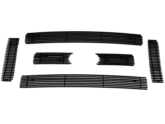 Modern Billet 6-Piece Upper Overlay Grille - Black (09-12 Lariat, King Ranch)