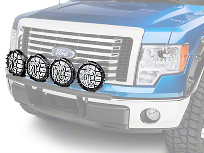 Ford Performance 8 in. Round Auxiliary Halogen Lights - Set of Four (09-14 All)