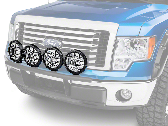 Ford Performance 8 in. Round Auxiliary HID Lights - Set of Four (09-14 All)