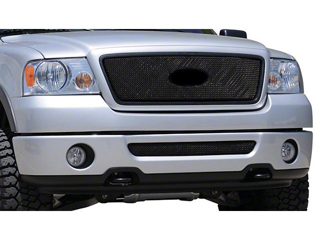 T-REX Sport Series Upper Mesh Overlay Grille w/ Emblem Insert - Black (04-08 XL, XLT, Lariat)
