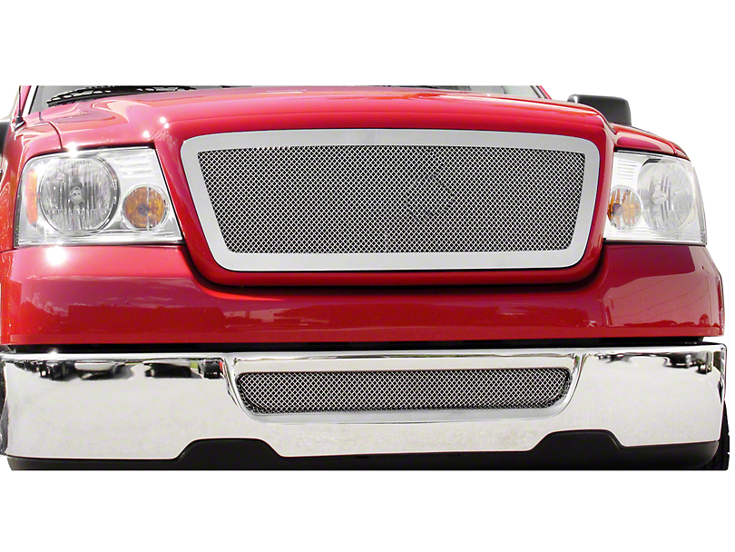 T-REX Upper Class Series Upper Mesh Replacement Grille w/ Emblem Delete - Polished (04-08 All)