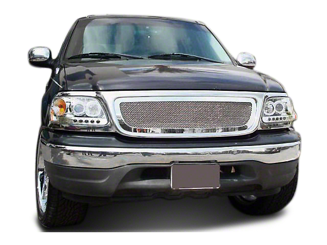 T-REX Upper Class Series Polished Small Mesh Upper Grille (99-03 F-150)