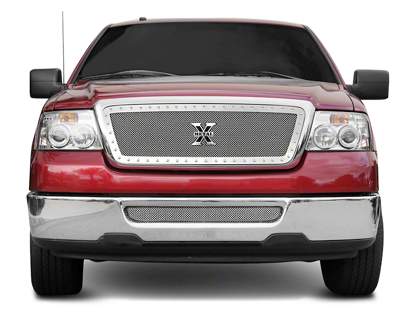 T-REX Upper Class Series Lower Bumper Mesh Grille Insert - Polished (04-05 F-150)