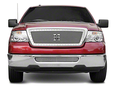 T-REX Upper Class Series Lower Bumper Mesh Grille Insert - Polished (04-05 All)