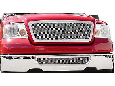 T-REX Upper Class Series Lower Bumper Mesh Grille Insert - Polished (06-08 All)