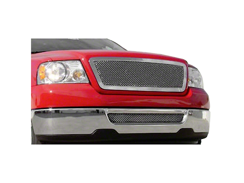 T-REX Hybrid Series Lower Bumper Mesh Grille Insert - Polished (06-08 All)