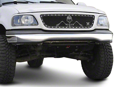 T-REX X-Metal Series Flat Black Small Mesh Upper Grille (99-03 All)