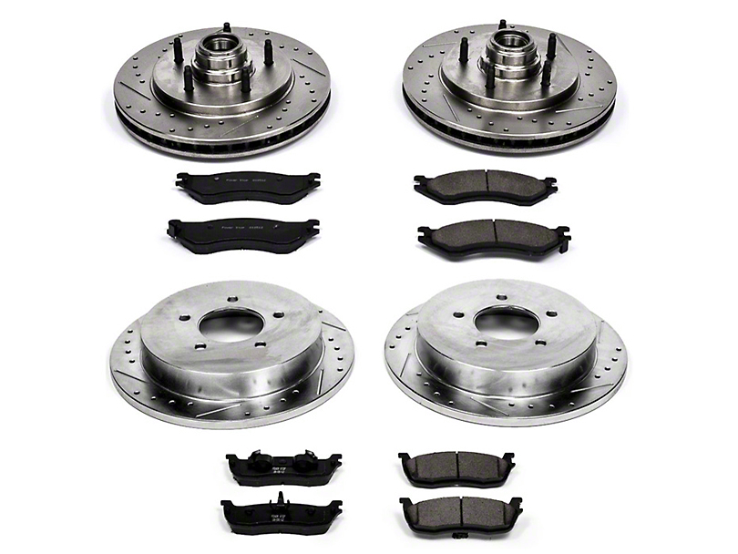 Power Stop Z23 Evolution Sport Brake Rotor & Pad Kit - Front & Rear (99-Early 00 2WD)