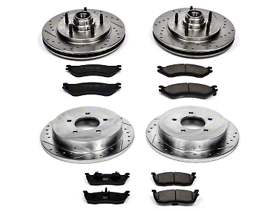 Power Stop Z23 Evolution Sport Brake Rotor & Pad Kit - Front & Rear (99-Early 00 2WD F-150)