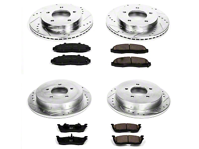 Power Stop Z23 Evolution Sport Brake Pad & Rotor Kit - Front & Rear (99-Early 00 4WD 5-Lug)