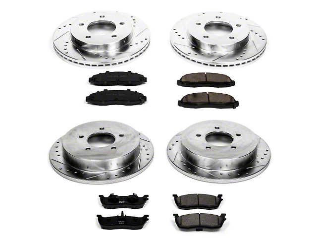 Power Stop Z23 Evolution Sport Brake Rotor & Pad Kit - Front & Rear (Late 00-03 4WD 5-Lug)