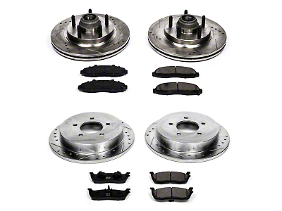 Power Stop Z23 Evolution Sport Brake Rotor & Pad Kit - Front & Rear (Late 00-03 4WD F-150 5-Lug)