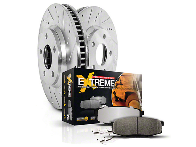 Power Stop Z36 Extreme Truck & Tow Brake Pad & Rotor Kit - Front & Rear (Late 00-03 4WD F-150 5-Lug)