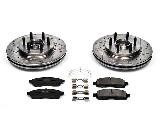 Power Stop Z23 Evolution Sport 6 or 7-Lug Brake Rotor & Pad Kit - Front (04-08 2WD)