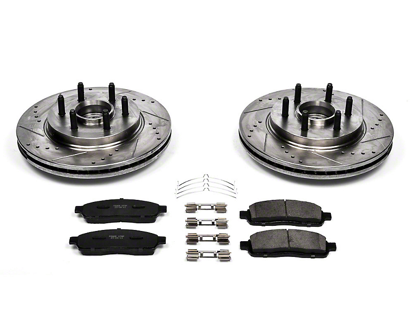 Power Stop Z36 Extreme Truck & Tow 6 or 7-Lug Brake Rotor & Pad Kit - Front (04-08 2WD)