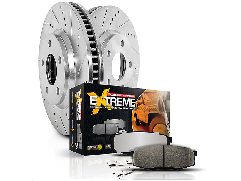 Power Stop Z36 Extreme Truck & Tow 6-Lug Brake Rotor & Pad Kit - Front & Rear (04-08 2WD/4WD)