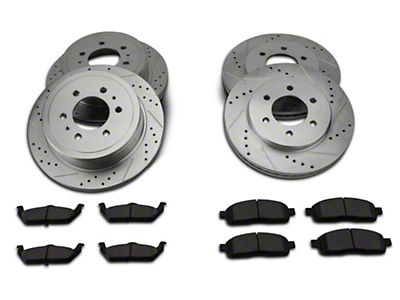 Power Stop Z23 Evolution Sport 6-Lug Brake Rotor & Pad Kit - Front & Rear (04-08 2WD F-150)