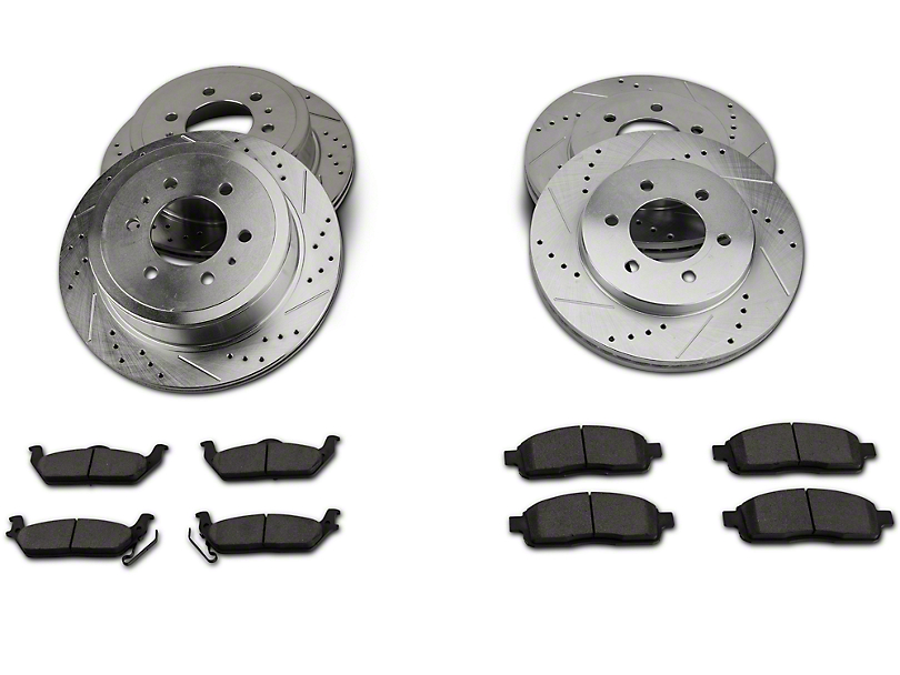Power Stop Z23 Evolution Sport 6-Lug Brake Rotor and Pad Kit; Front and Rear (04-08 4WD F-150)
