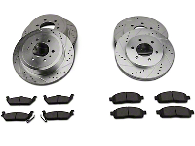 Power Stop Z23 Evolution Sport 6-Lug Brake Rotor & Pad Kit - Front & Rear (04-08 4WD)