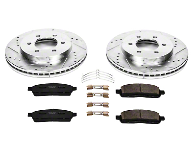 Power Stop Z23 Evolution Sport 6 or 7-Lug Brake Rotor & Pad Kit - Front (04-08 4WD F-150)