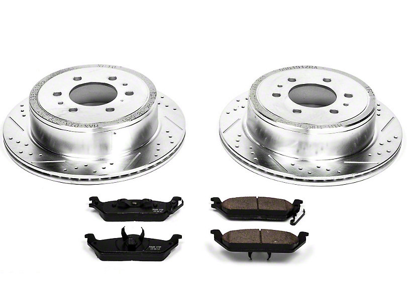 Power Stop Z36 Extreme Truck & Tow 6-Lug Brake Rotor & Pad Kit - Rear (04-11 2WD/4WD)