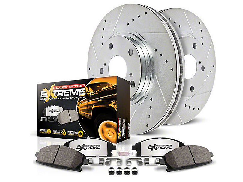 Power Stop Z36 Extreme Truck & Tow 6-Lug Brake Rotor & Pad Kit - Front & Rear (10-20 2WD/4WD F-150)