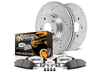 Power Stop Z36 Extreme Truck & Tow Brake Rotor & Pad Kit - Front & Rear (12-14 6-Lug; 15-17 w/ Manual Parking Brake)