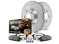 Power Stop Z36 Extreme Truck & Tow Brake Rotor & Pad Kit - Front & Rear (12-14 6-Lug; 15-19 w/ Manual Parking Brake)