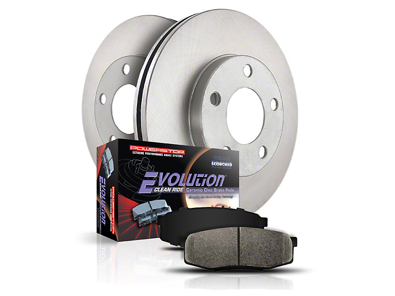 Power Stop OE Replacement Brake Rotor & Pad Kit - Front & Rear (Late 00-03 F-150 5 & 7 Lug)