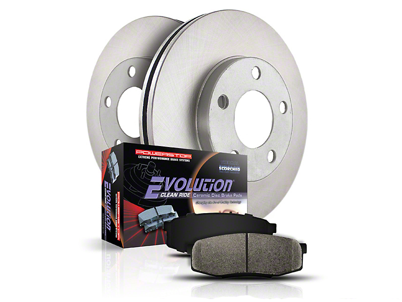 Power Stop OE Replacement 6 or 7-Lug Brake Rotor & Pad Kit - Front (04-08 2WD)