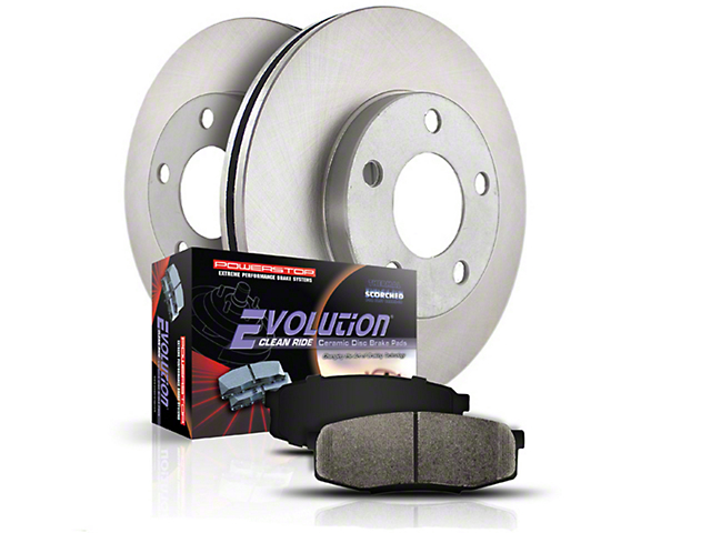 Power Stop OE Replacement 6-Lug Brake Rotor & Pad Kit - Front & Rear (04-08 2WD)