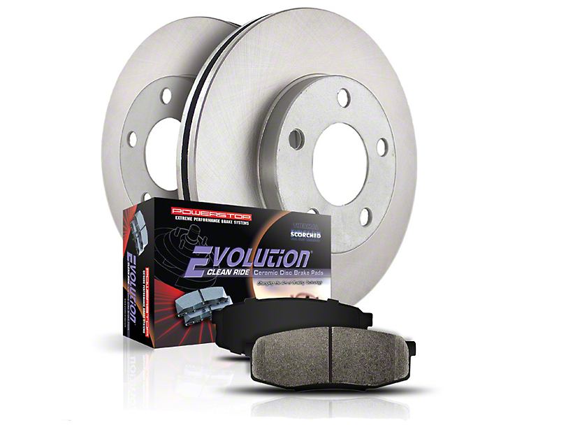 Power Stop OE Replacement 6 or 7-Lug Brake Rotor & Pad Kit - Front & Rear (04-08 4WD F-150)
