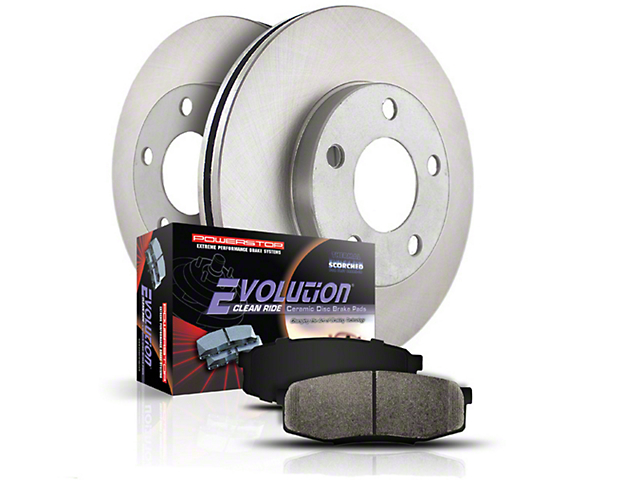 Power Stop OE Replacement 6 or 7-Lug Brake Rotor & Pad Kit - Front & Rear (04-08 4WD)