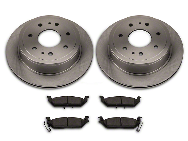 Power Stop OE Replacement 6 or 7-Lug Brake Rotor & Pad Kit - Rear (04-11 2WD/4WD)