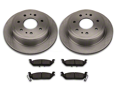 Power Stop OE Replacement Brake Pad & Rotor Kit - Rear (04-11 6-Lug)