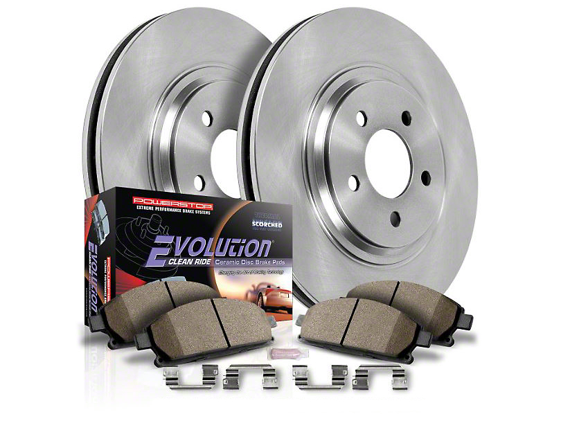 Power Stop OE Replacement 6-Lug Brake Rotor & Pad Kit - Front & Rear (10-11 2WD/4WD F-150)
