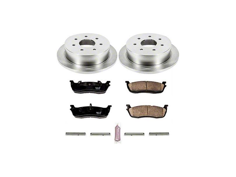 Power Stop OE Replacement 7-Lug Brake Rotor & Pad Kit - Rear (Late 00-03 w/ Rear Disc Brakes)