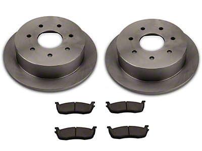 Power Stop OE Replacement 7-Lug Brake Rotor & Pad Kit - Rear (Late 00-03 w/ Rear Disc Brakes)