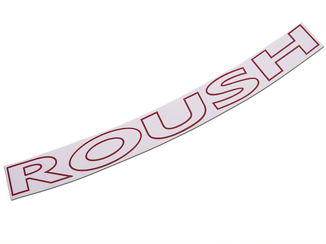 Roush Red Windshield Banner (97-08 All)