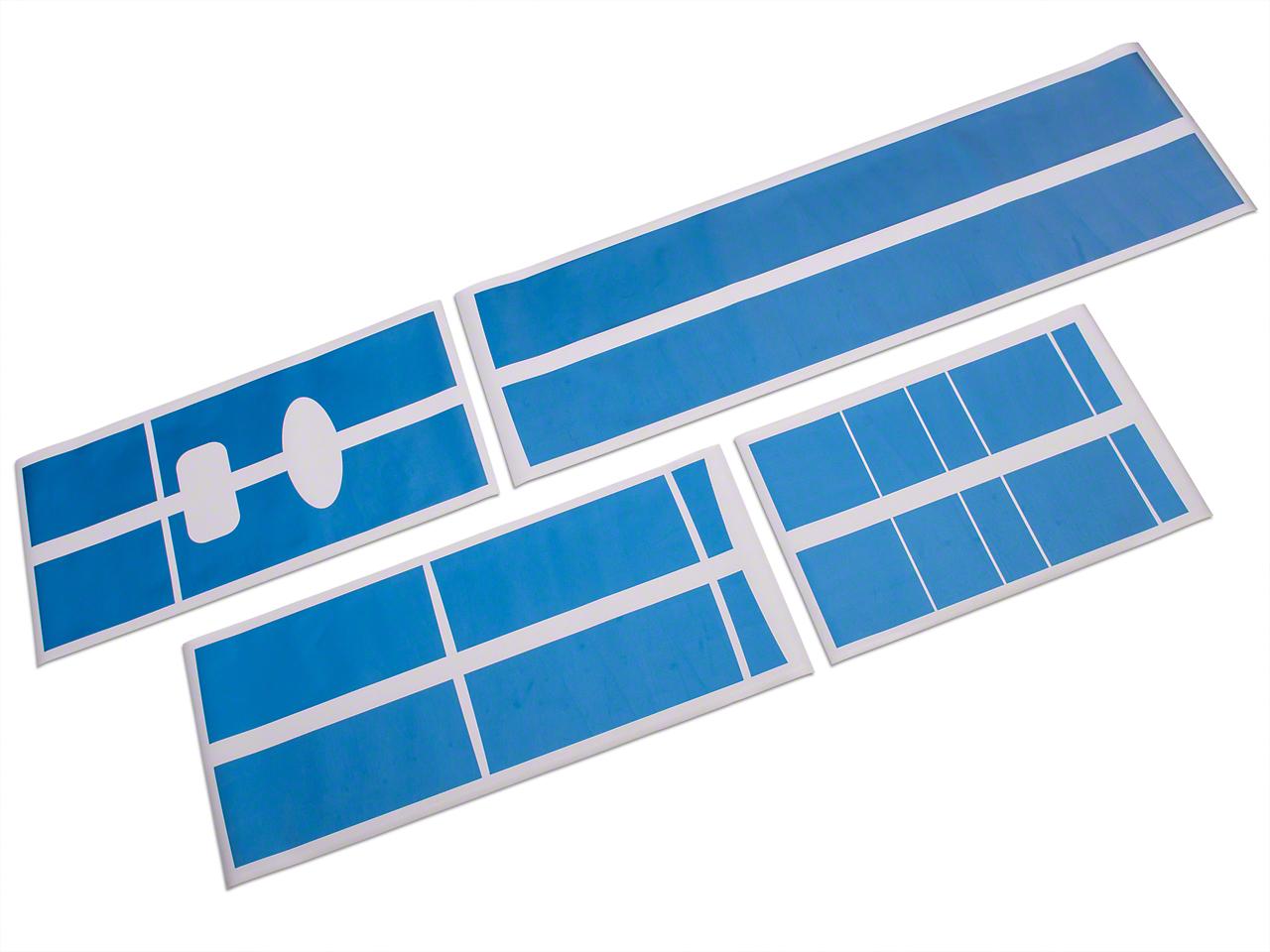 Roush Light Blue Metallic Stripe Kit - Top (04-08 F-150 SuperCrew)