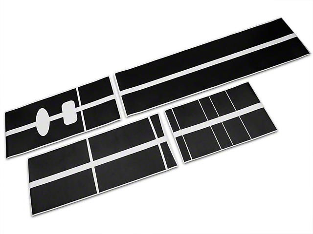 Roush Black Stripe Kit - Top (04-08 SuperCab, SuperCrew)