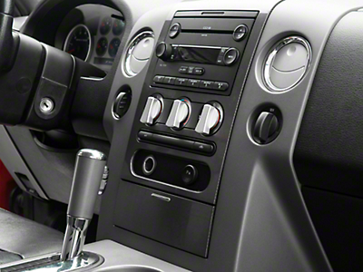 Modern Billet Satin A/C Knob Covers (04-08 F-150)