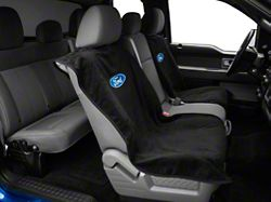 Alterum Seat Armour Protective Cover with Ford Oval Logo; Black (97-20 F-150)