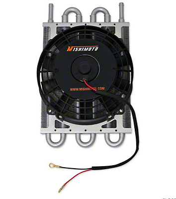 Mishimoto Heavy Duty Automatic Transmission Cooler w/ Electric Fan (97-18 All)