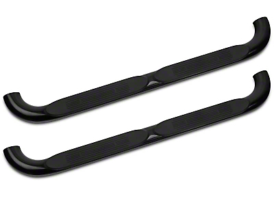 Barricade 4 in. Oval Bend Side Step Bar - Gloss Black (97-03 Regular Cab)