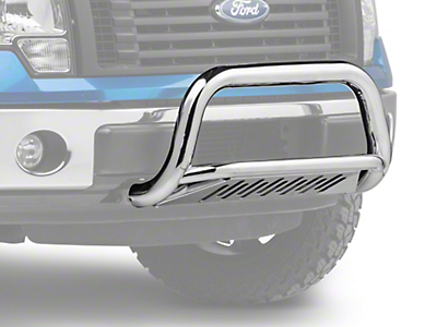 Barricade 3 in. Bull Bar w/ Skid Plate - Polished SS (11-17 2.7L/3.5L EcoBoost, Excluding Raptor)