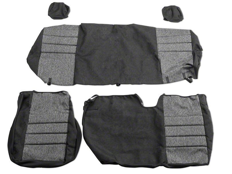 Fia Custom Fit Tweed Rear 60/40 Seat Covers - Charcoal (04-08 SuperCab, SuperCrew)